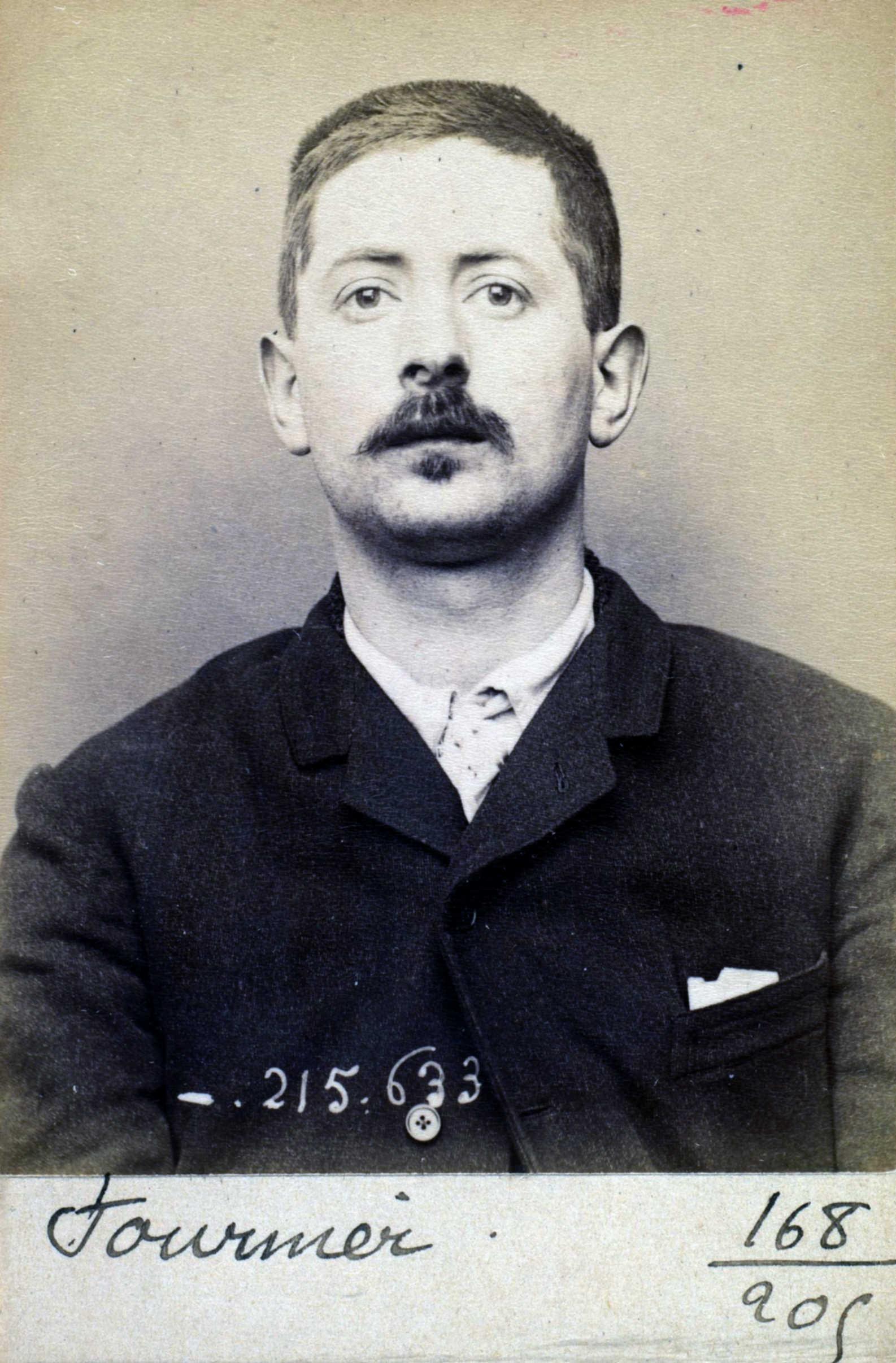 Foto policíaca d'Émile Fournier (13 de març de 1894)