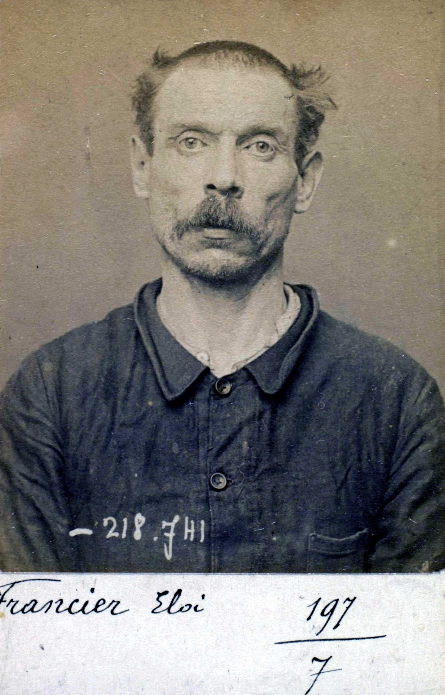 Foto policíaca d'Éloi Francier (22 de maig de 1894)