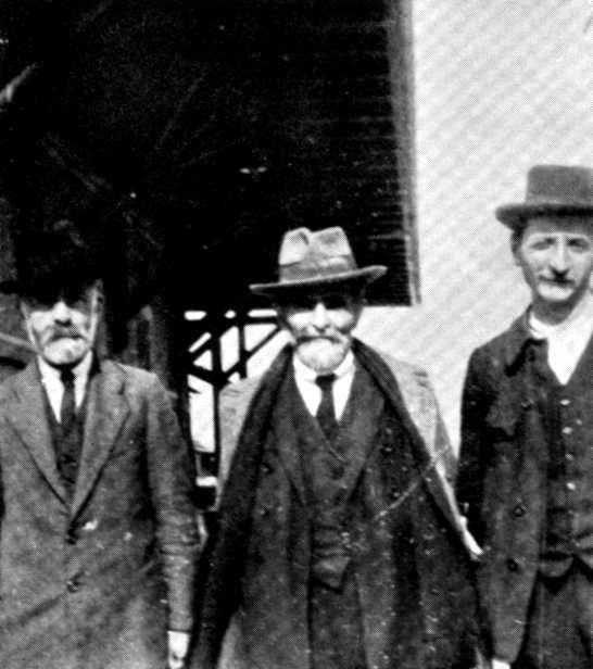 Antoni Gagliardi, Errico Malatesta i Luigi Bertoni (probablement a l'estació de Saint Imier, 1922) [CIRA-Lausana]