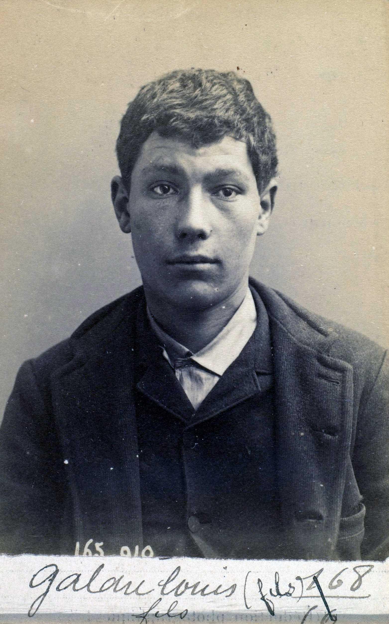 Foto policíaca de Charles Gallau (21 de febrer de 1891)