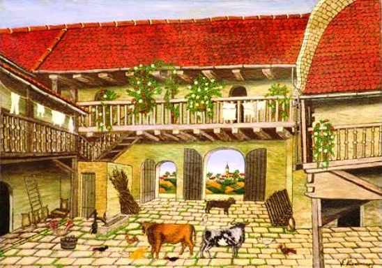 Une cour de ferme