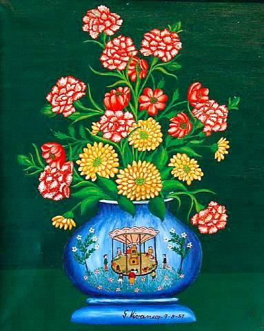 Pots et fleurs