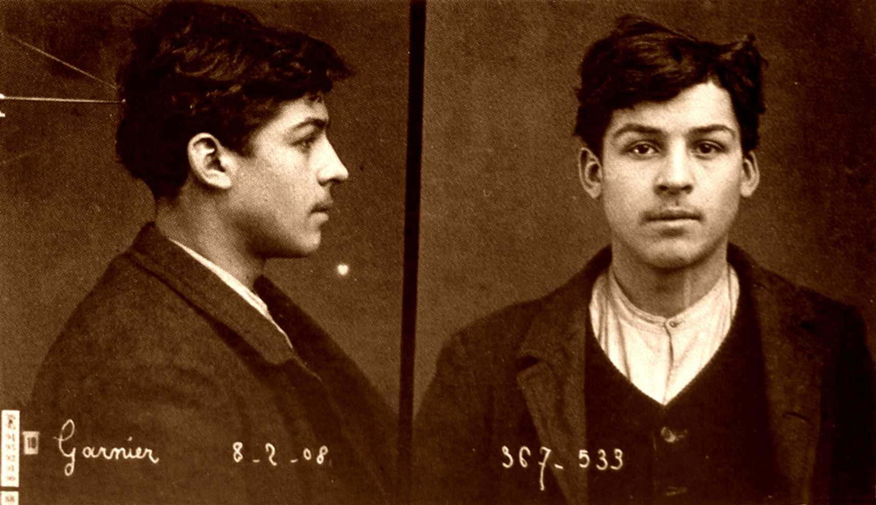 Foto policíaca d'Octave Garnier (1908)