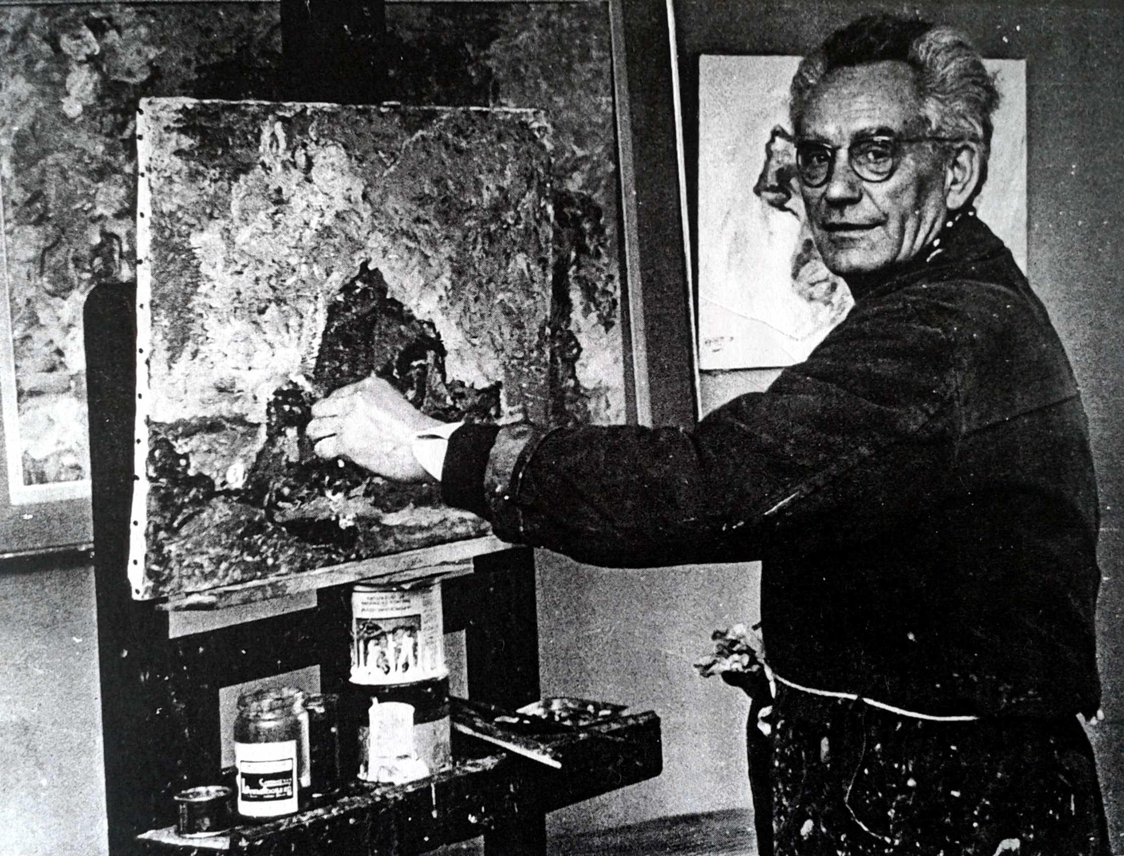Vicente Gil Franco fotografiat per Robert Villain al seu taller (1958)