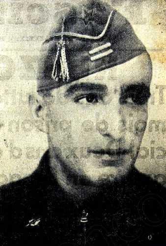 Renzo Giua durante la Guerra Civil española