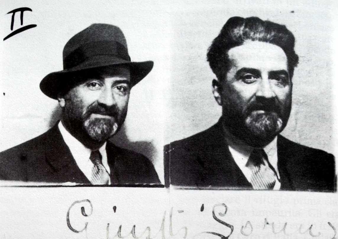 Foto de la fitxa de la policia francesa de Lorenzo Giusti (1936)