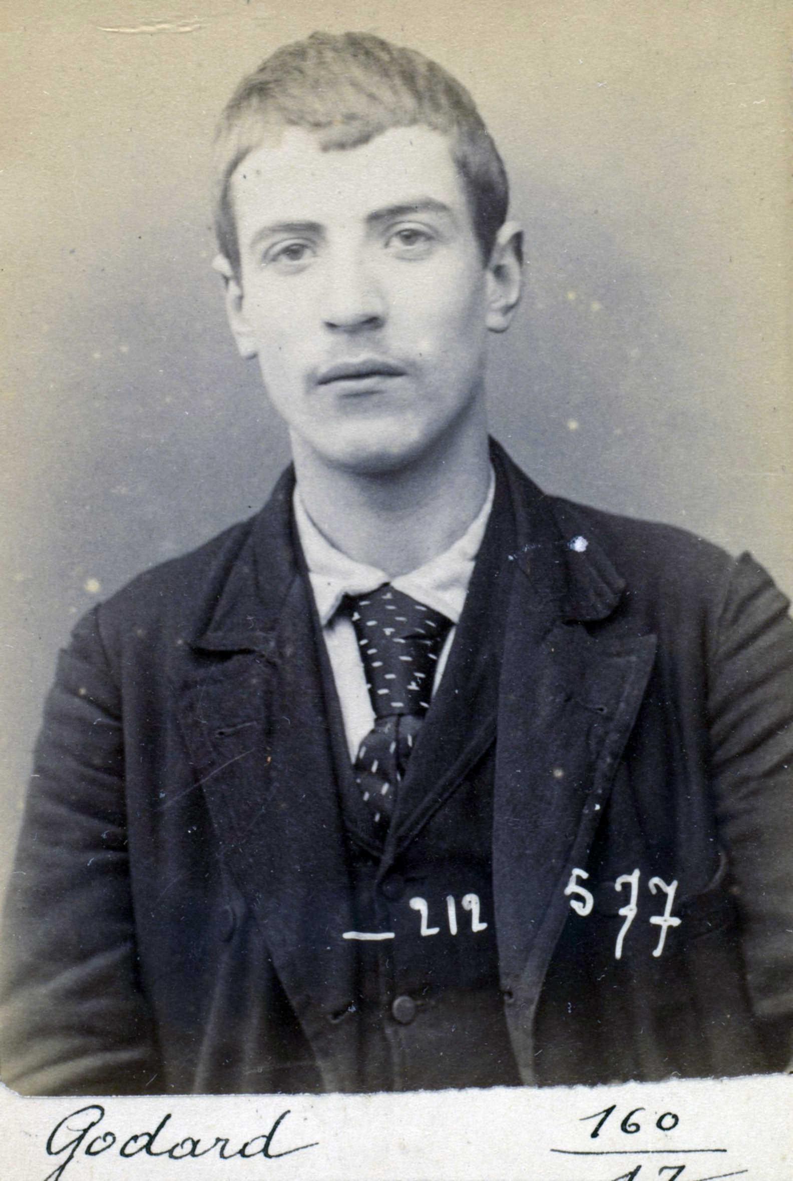 Foto policíaca d'Armand Godard (6 de gener de 1894)