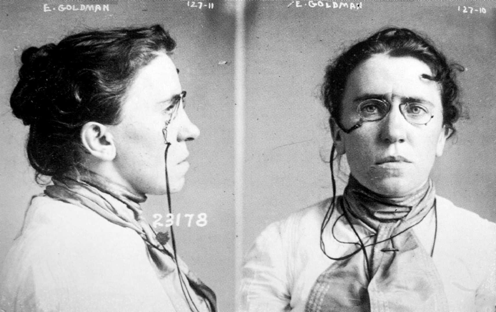 Fitxa policíaca d'Emma Goldman (setembre de 1901)