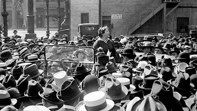 Emma Goldman a la Union Square de Nova York (20 de maig de 1916)