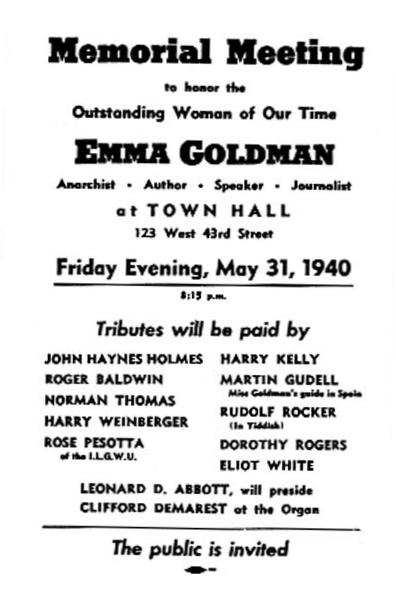 Cartel del homenaje