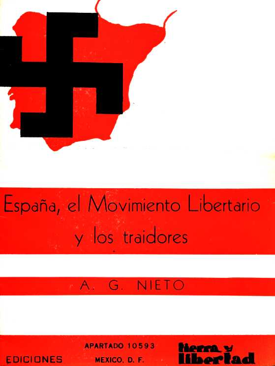 """Portada del fullet d'Antonio González Nieto """"España, el Movimiento Libertario y los traidores"""" (1946)"""