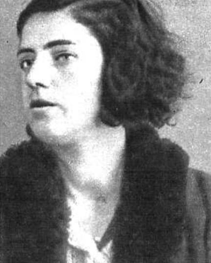 Foto policíaca de Nieves Gracia Aznar (desembre de 1933)