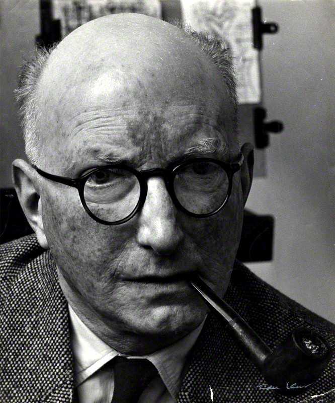 Marcel Gromaire fotografiat per Ida Kar als anys seixanta