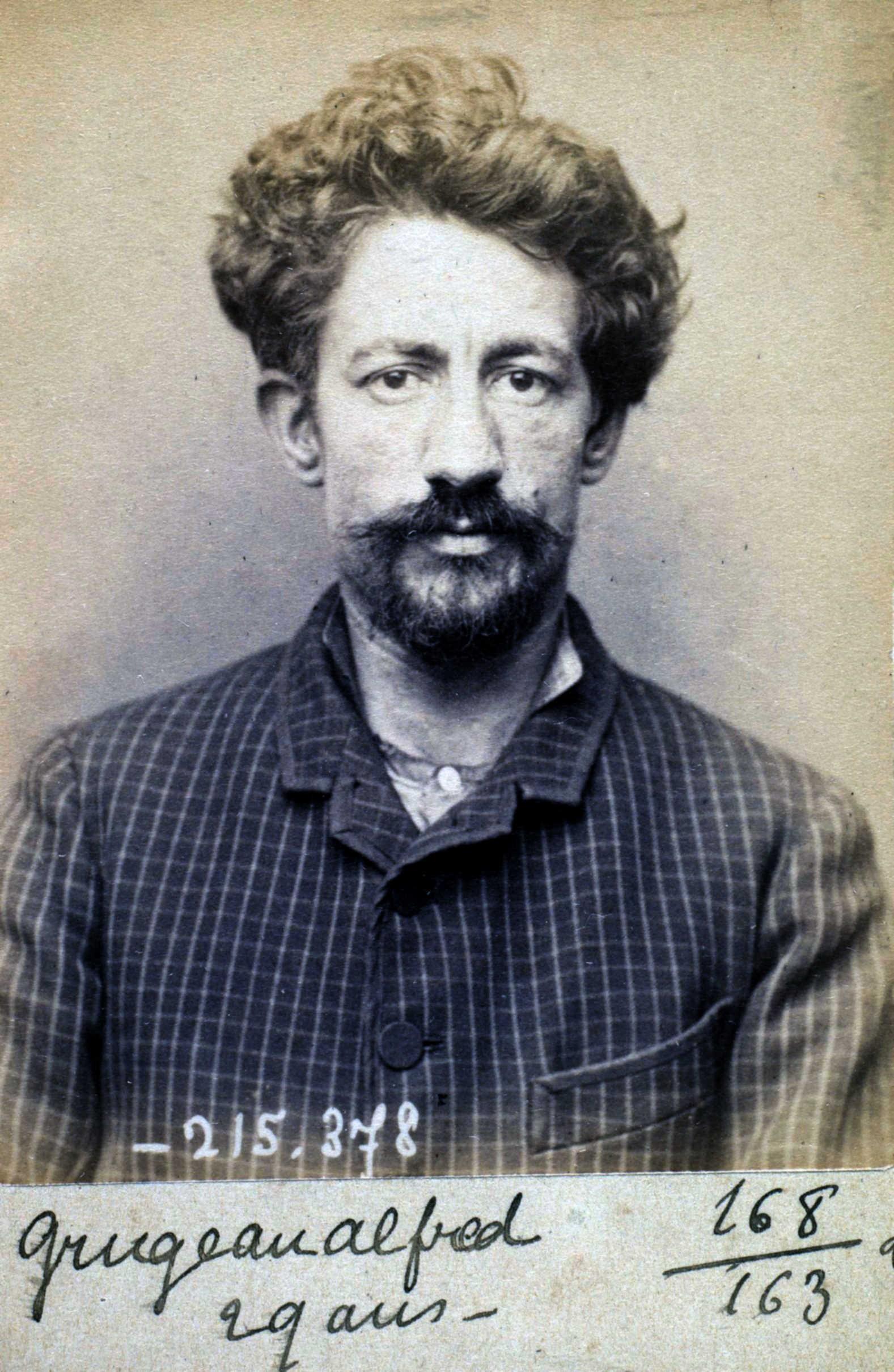 Foto policíaca d'Alfred Grugeau (9 de març de 1894)