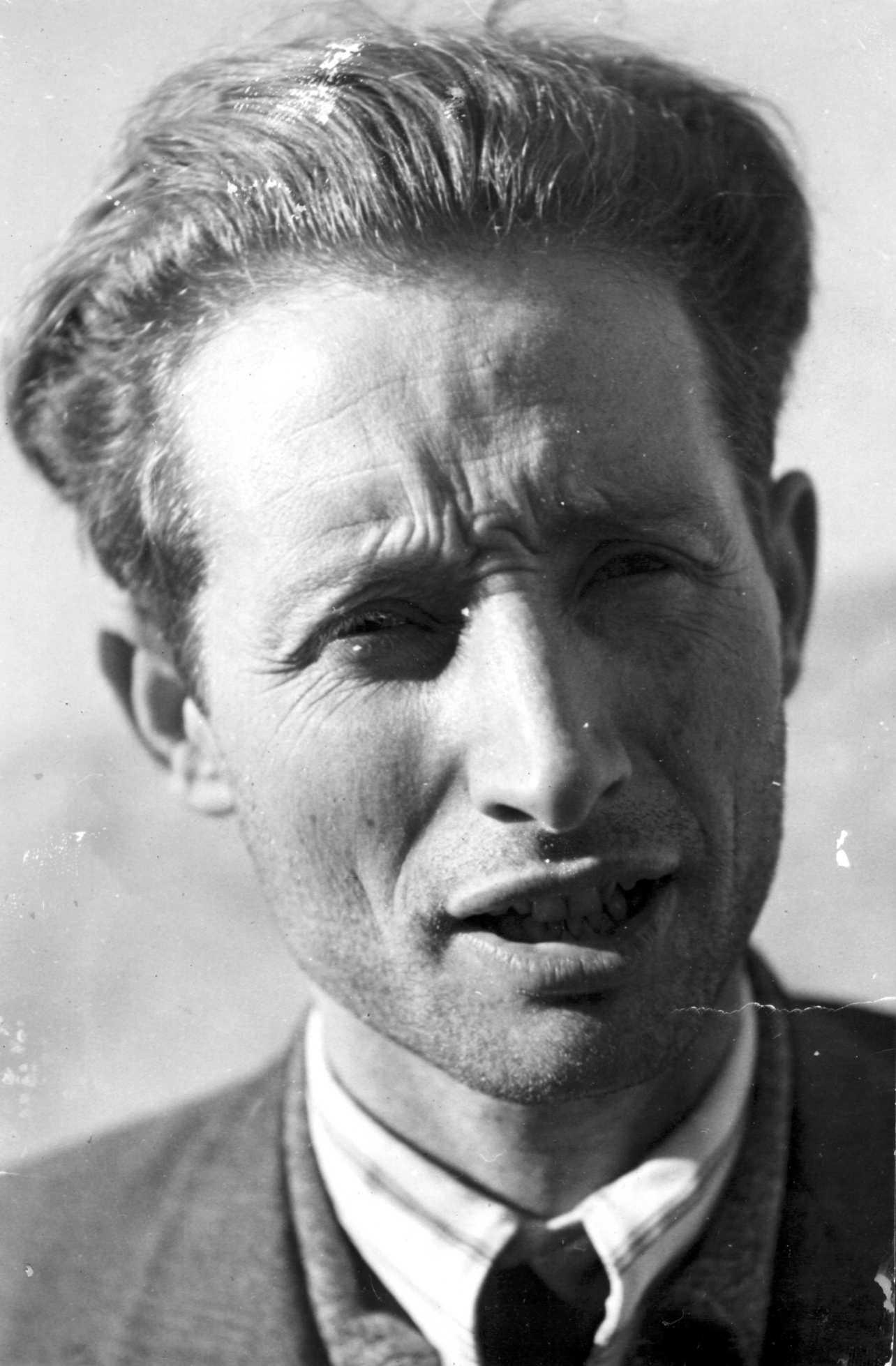 José Grunfeld poc abans de sortir d'Espanya (07-03-1939). Foto cedida per la Fundació Anselmo Lorenzo (FAL)
