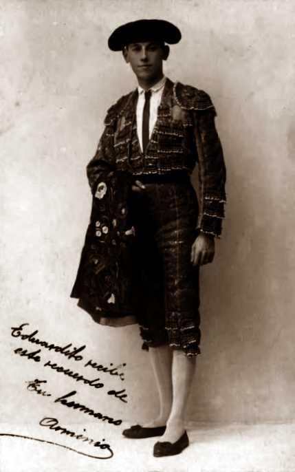 El torero Arminio Guajardo Morandeira