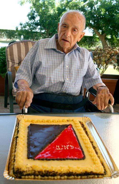 Isidre Guàrdia Abella en el seu 91 aniversari (15 de juny de 2012)