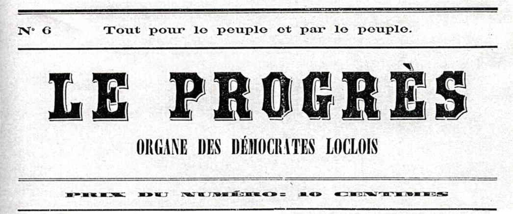 """Capçalera de """"Le Progrès"""""""