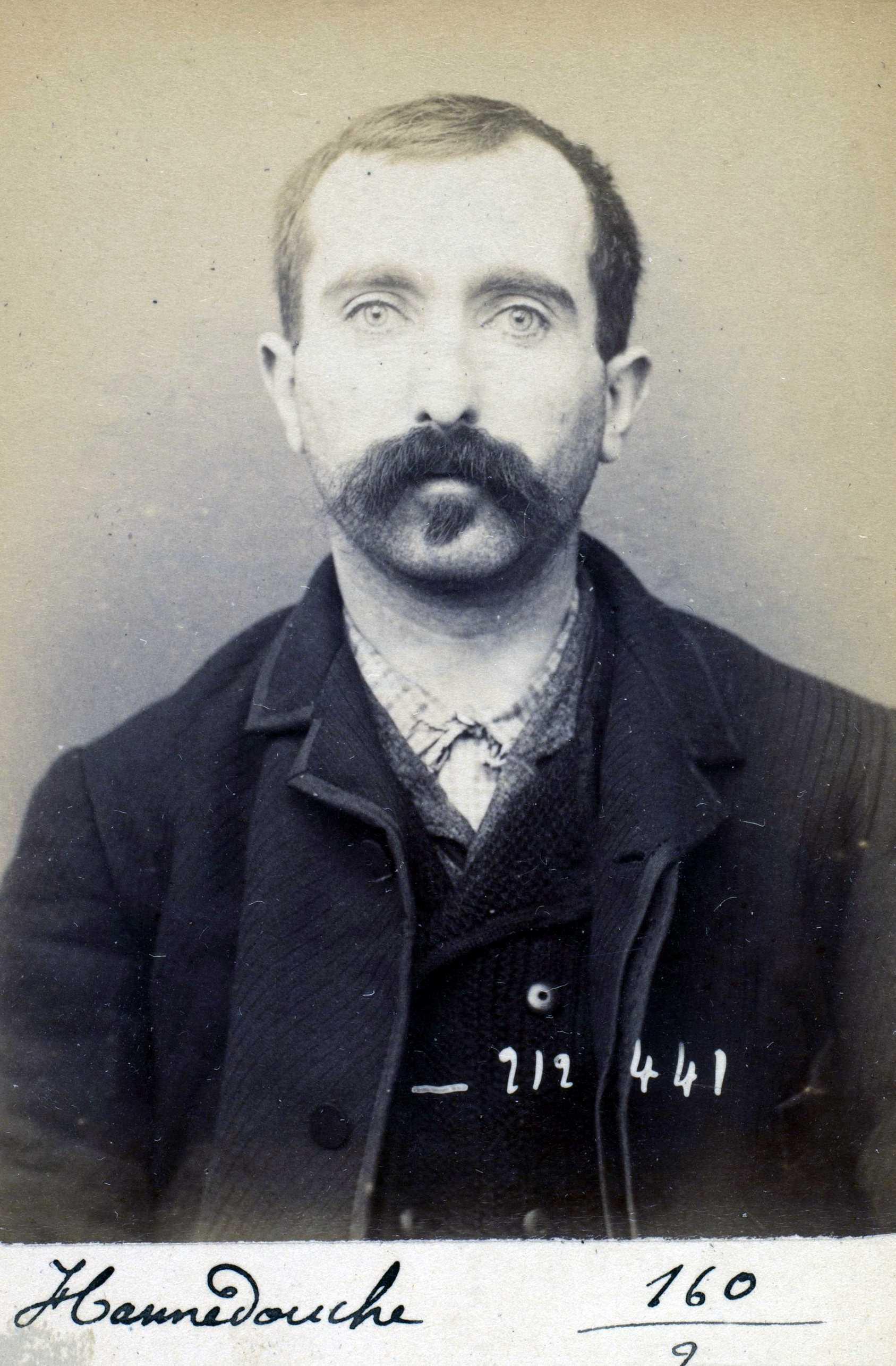 Foto policíaca de François Hannedouche (1 de gener de 1894)