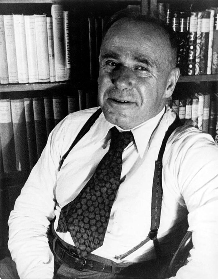 Hutchins Hapgood fotografiat per Carl Van Vechten (26 de setembre de 1933)