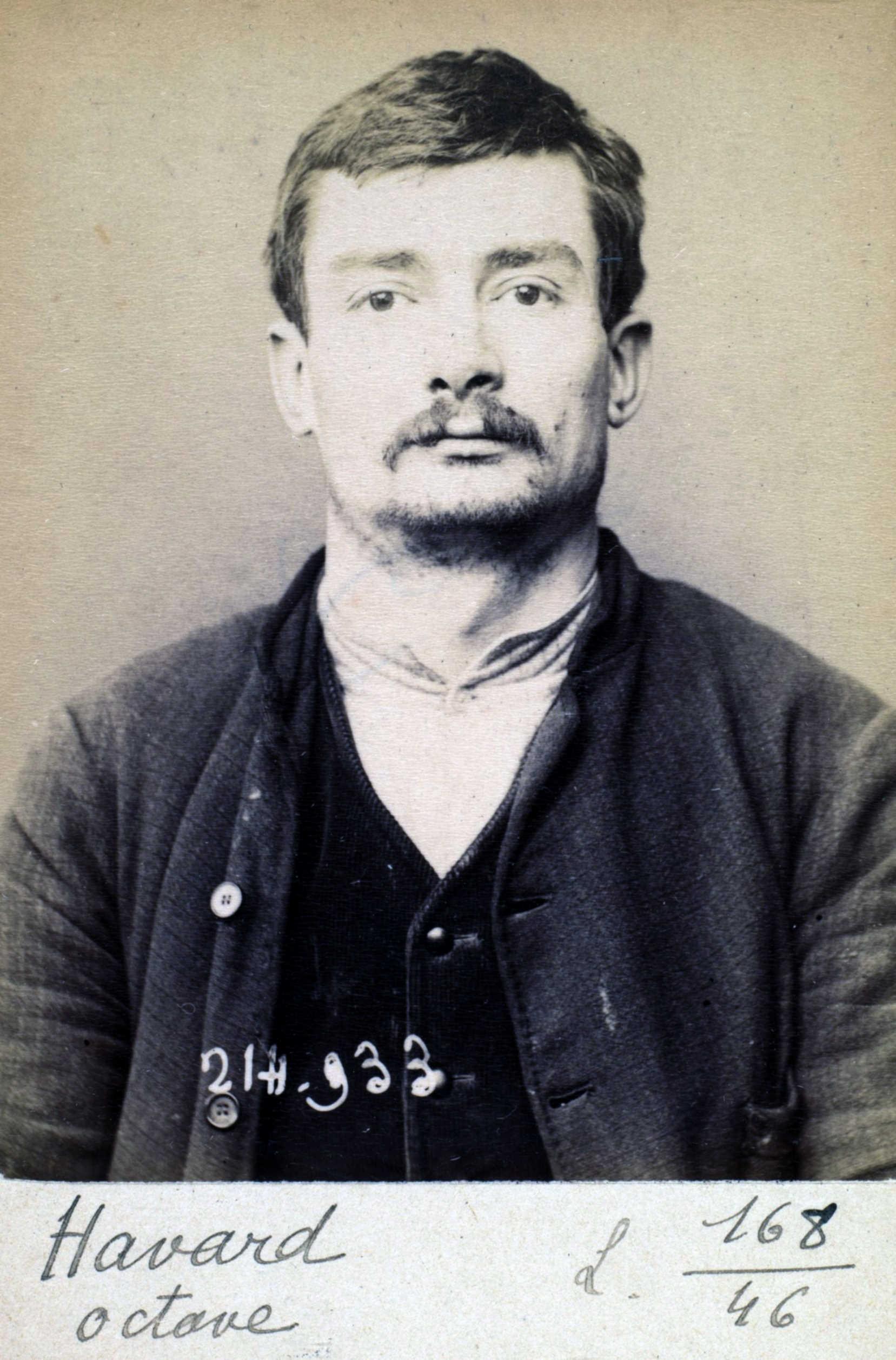Foto policíaca d'Octave Havart (1 de març de 1894)