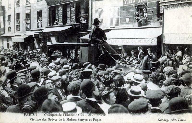Exèquies de l'ebeniste Henri Cler (26 de juny de 1910)