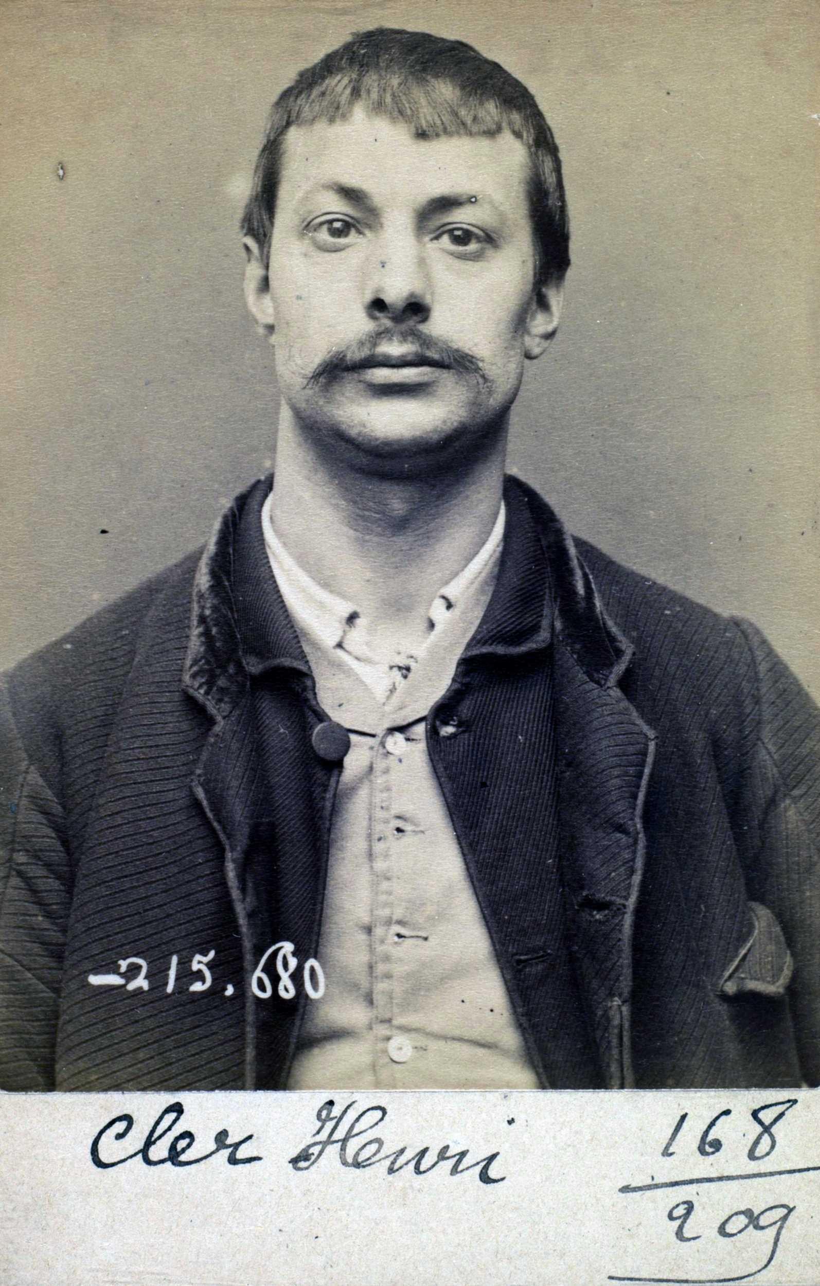 Foto policíaca d'Henri Cler (14 de març de 1894)