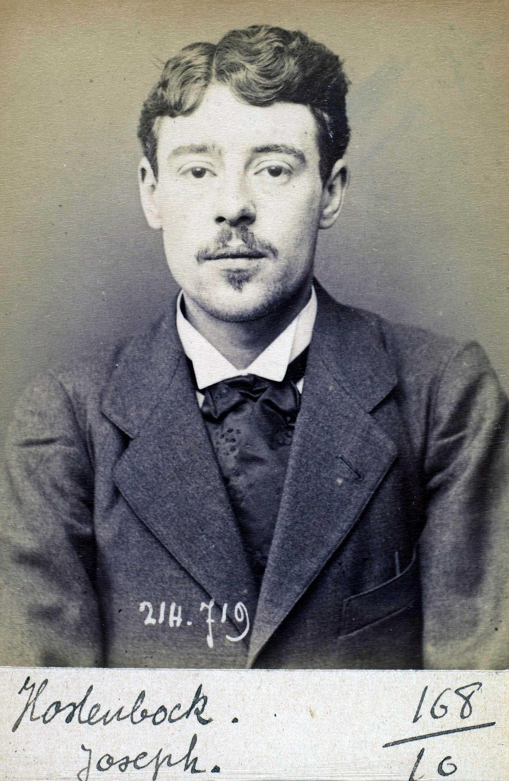 Foto policíaca de Joseph Hostenbock (26 de febrer 1894)