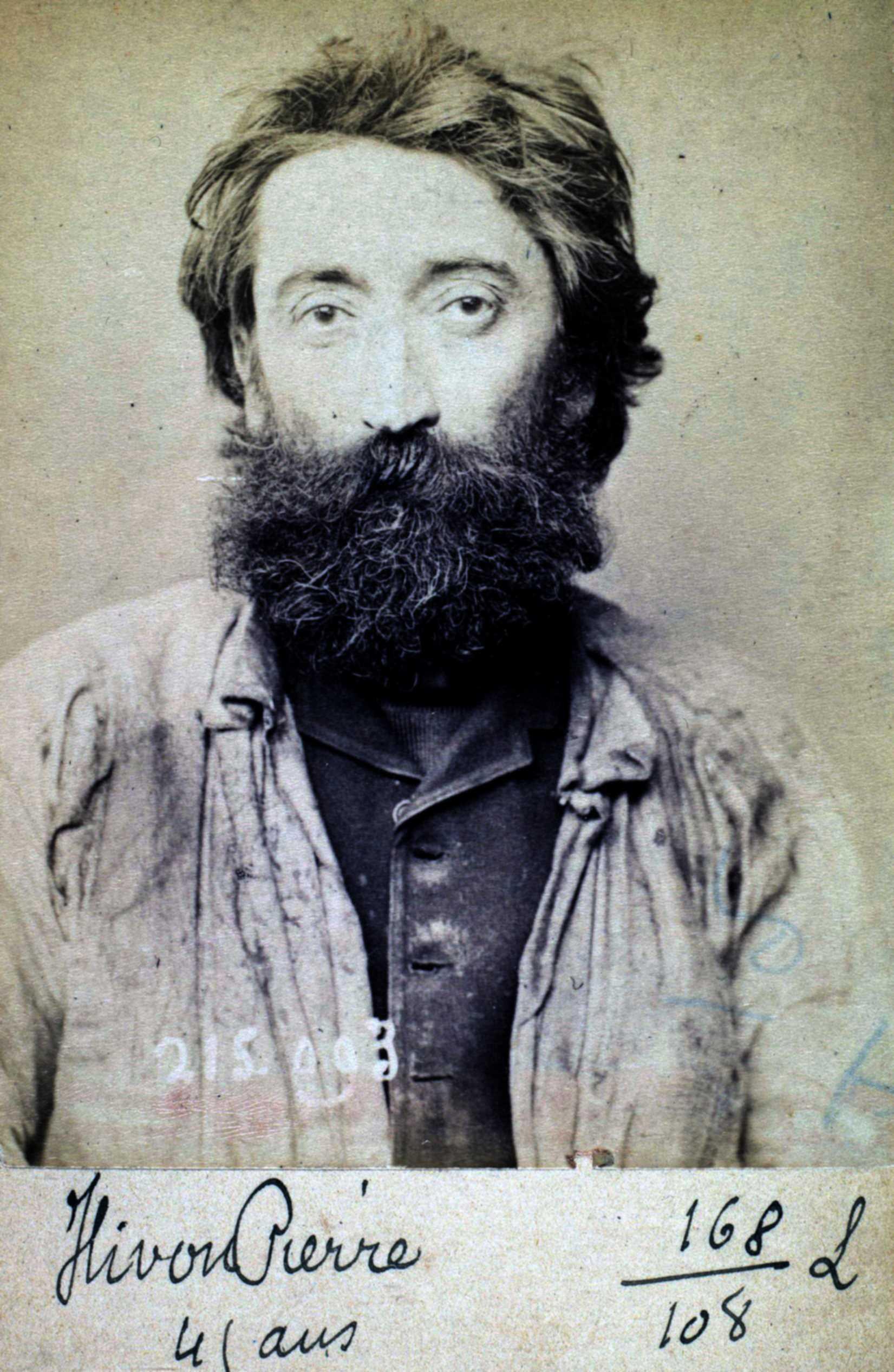 Foto policíaca de Pierre Hyvon (4 de març de 1894)