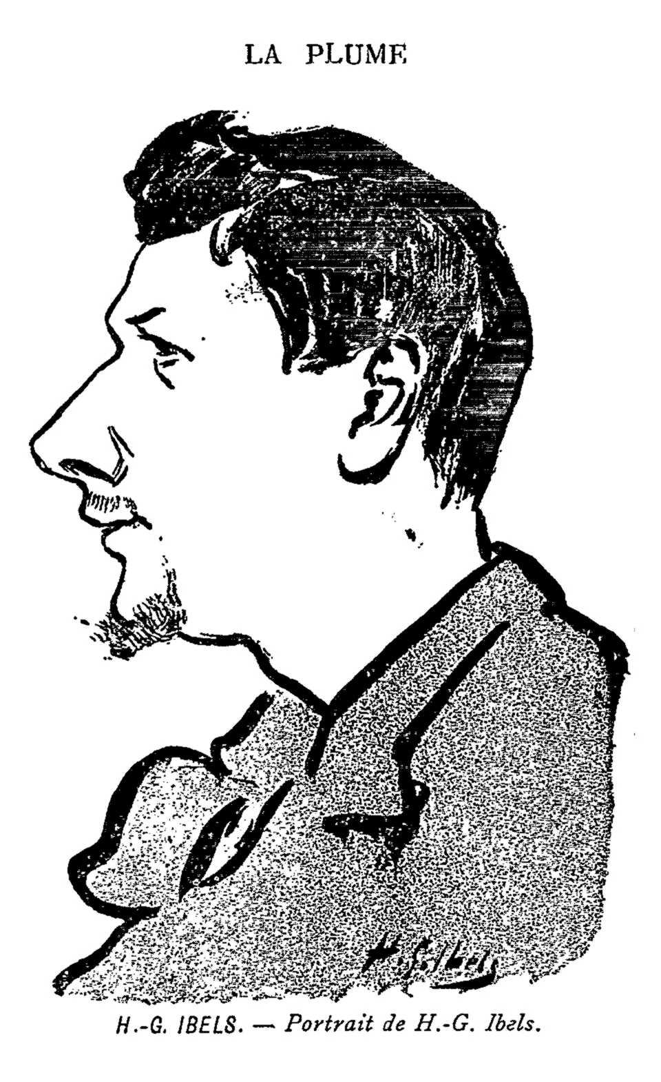 """Autoretrat d'Henri-Gabriel Ibels publicat en el número 90 la revista parisenca """"La Plume"""" del 15 de gener de 1893"""