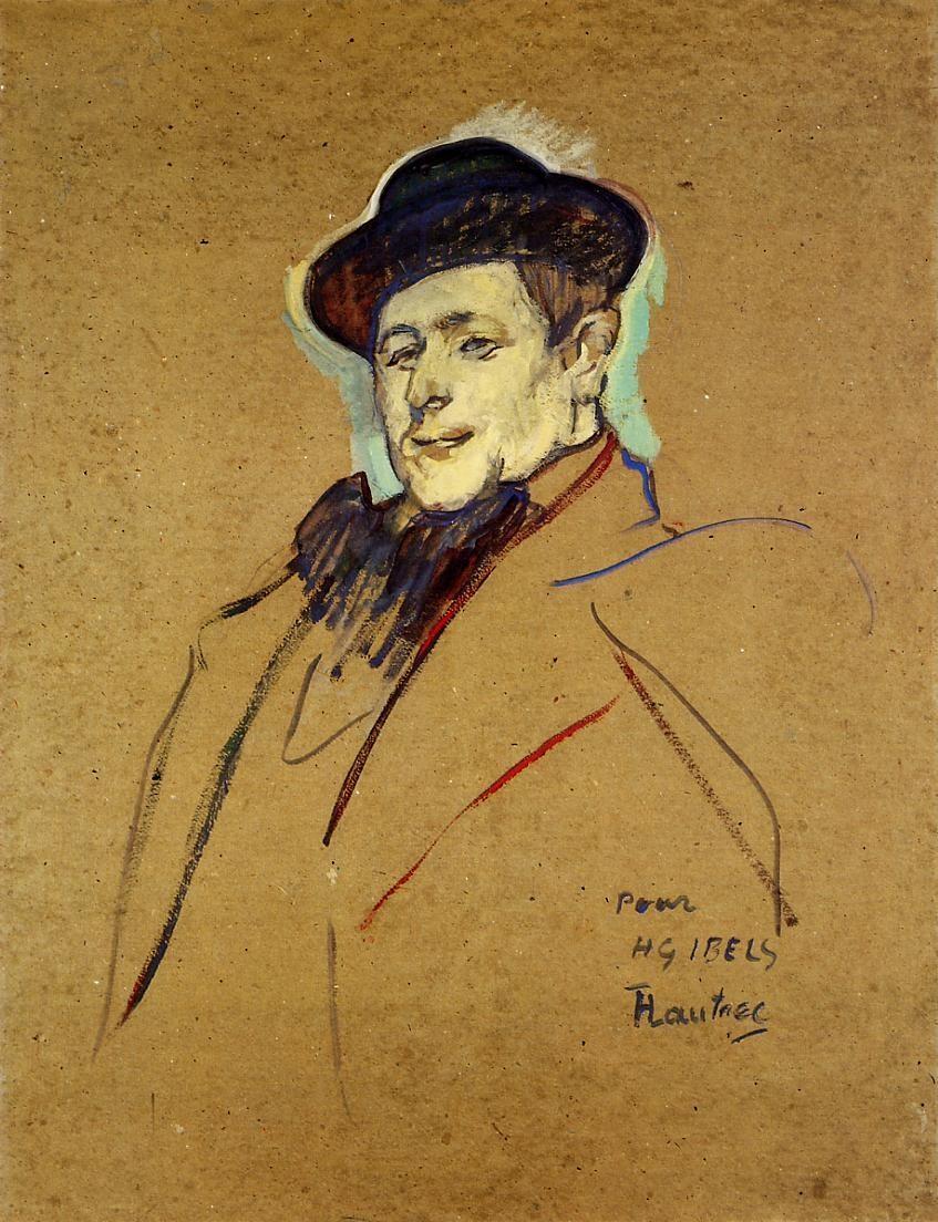 Henri-Gabriel Ibelin retratado por Toulouse-Lautrec (1892 a 1893).  Metropolitan Museum of Art (Nueva York)