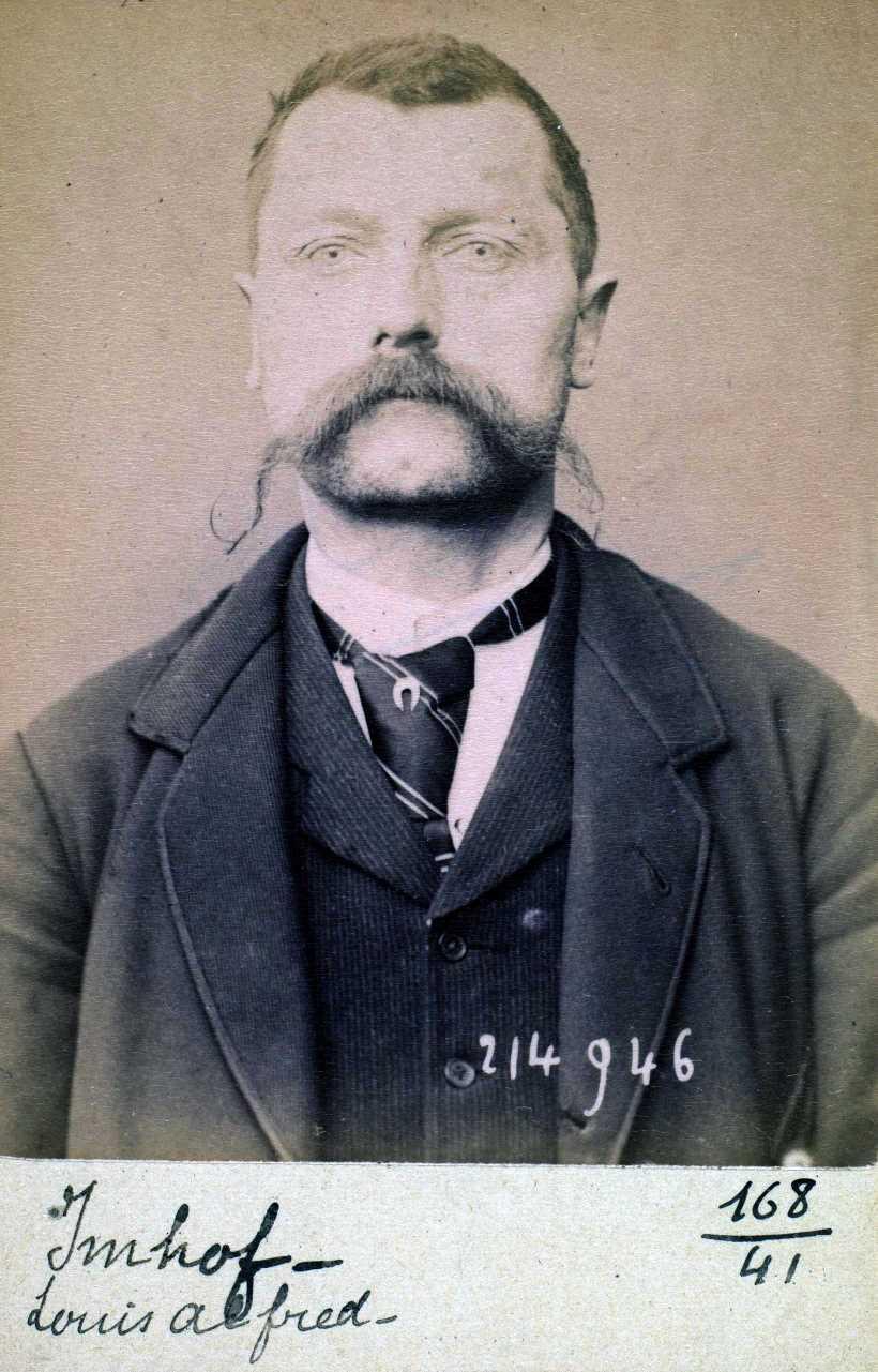 Foto policíaca de Louis-Alfred Imhoff (1 de març de 1894)