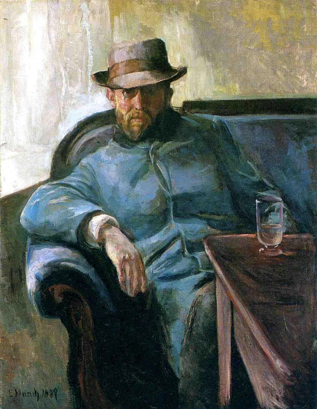 Hans Jaeger pintat per Edvard Munch (1889)