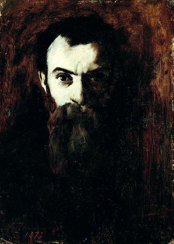 "Gustave Jeanneret: ""Autoretrat"" (1873)"