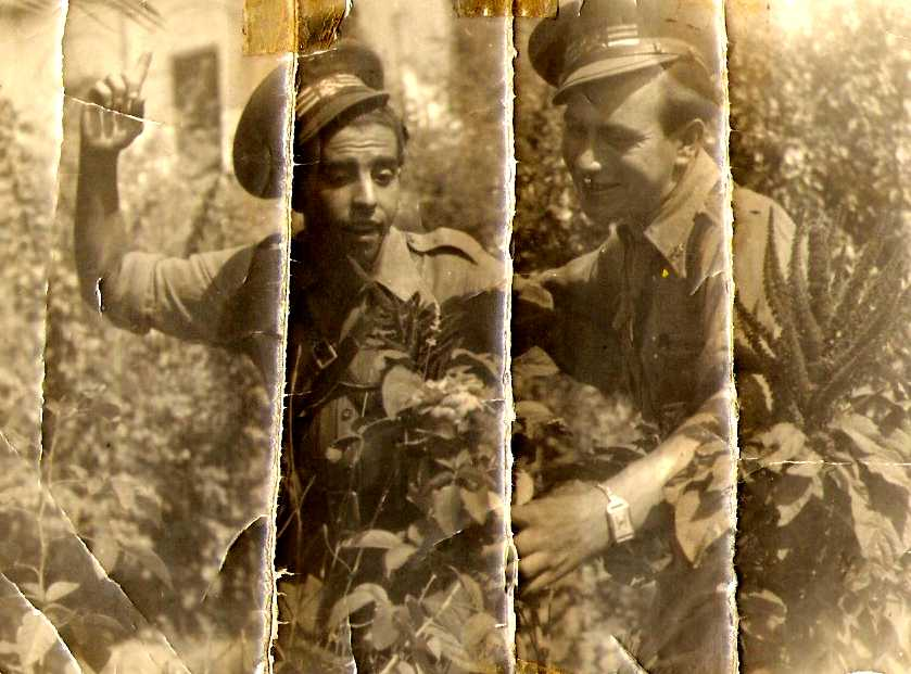 Jerónimo Misa (esquerra) amb un company, soldats de l'Exèrcit Republicà