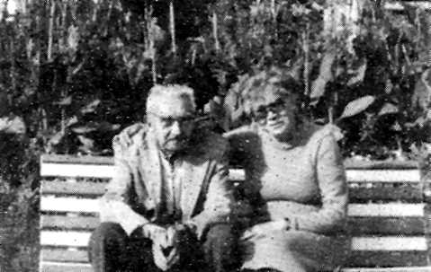Julián Floristán amb sa companya Luisa Nieves González Gil (Royan, tardor de 1984)