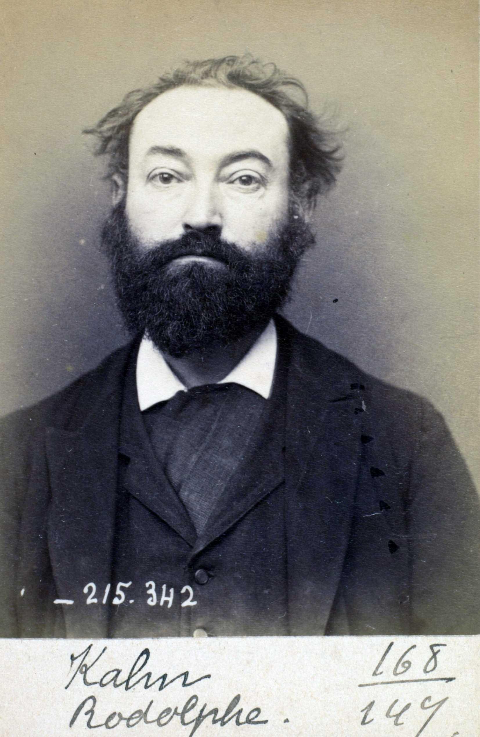 Foto policíaca de Rodolphe Kahn (8 de març de 1894)