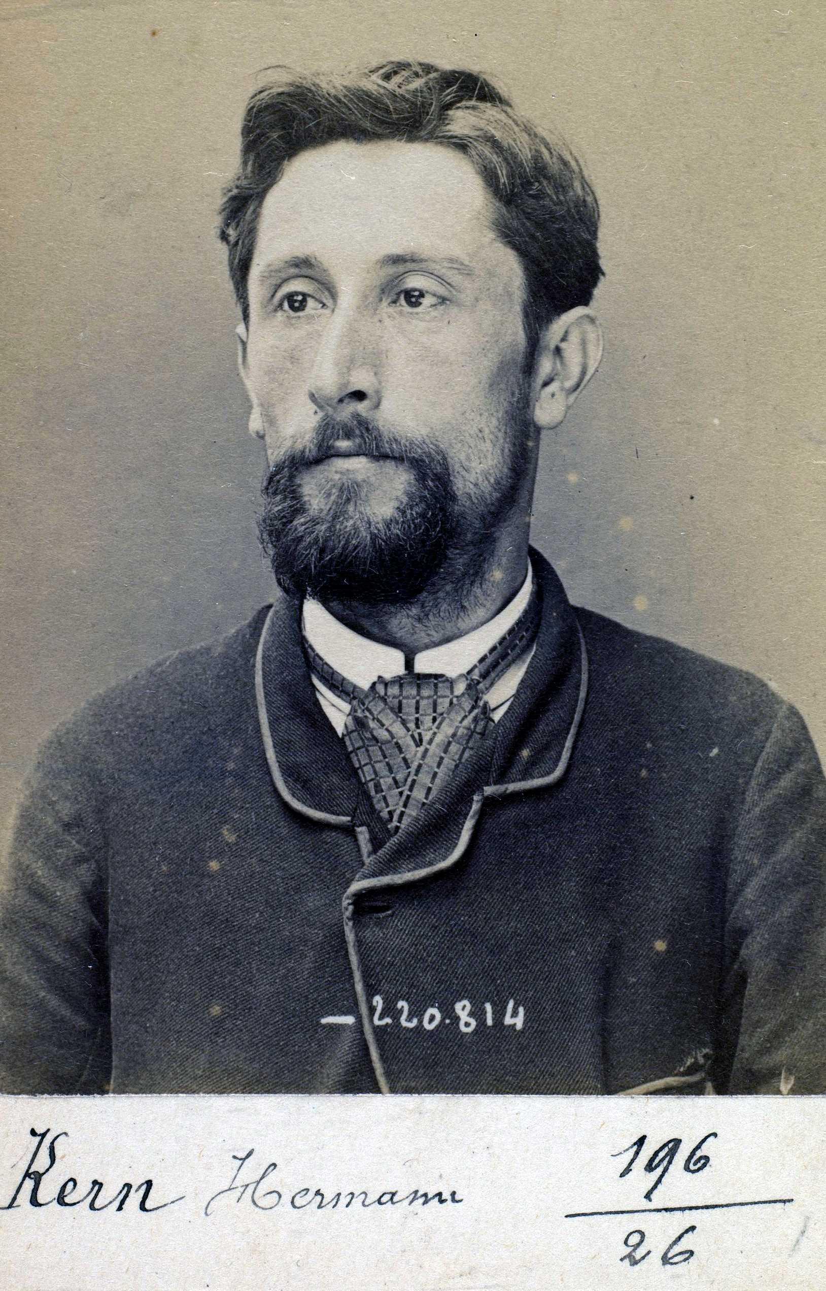 Foto policíaca de Jacob Kern (11 de juiol de 1894)