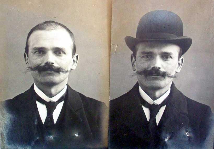 Foto de la policia francesa de Friedrich Kniestedt (ca. 1908)