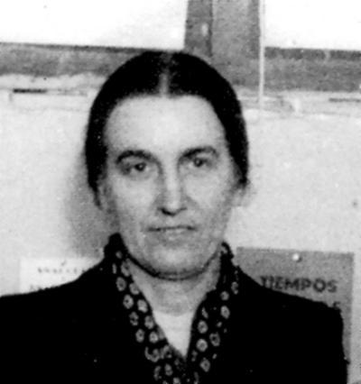 Renée Lamberet en el Congrés de l'AIT de Tolosa (1952)