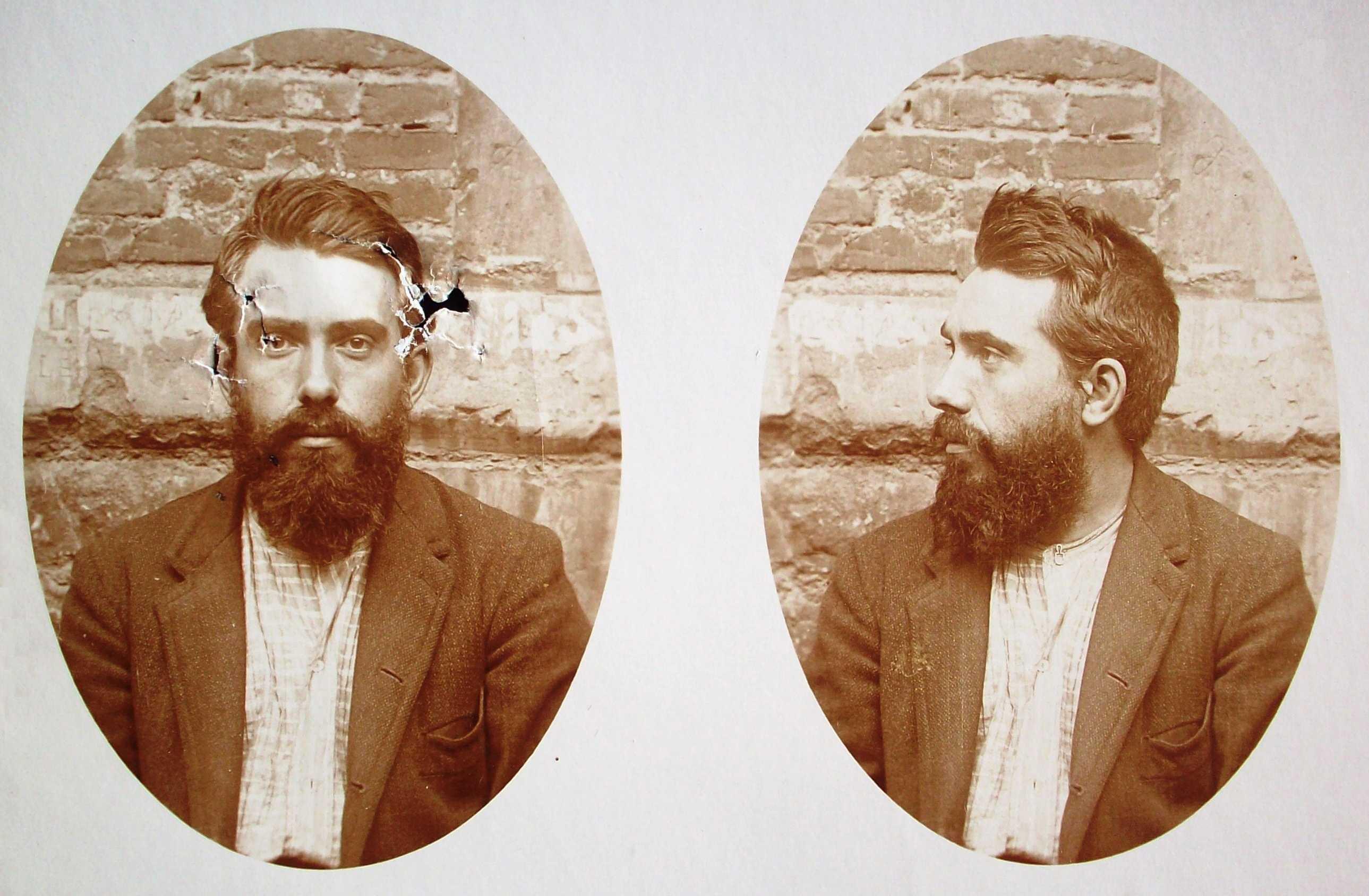 Foto antropomètrica de Samuel Lefèvre (1908)