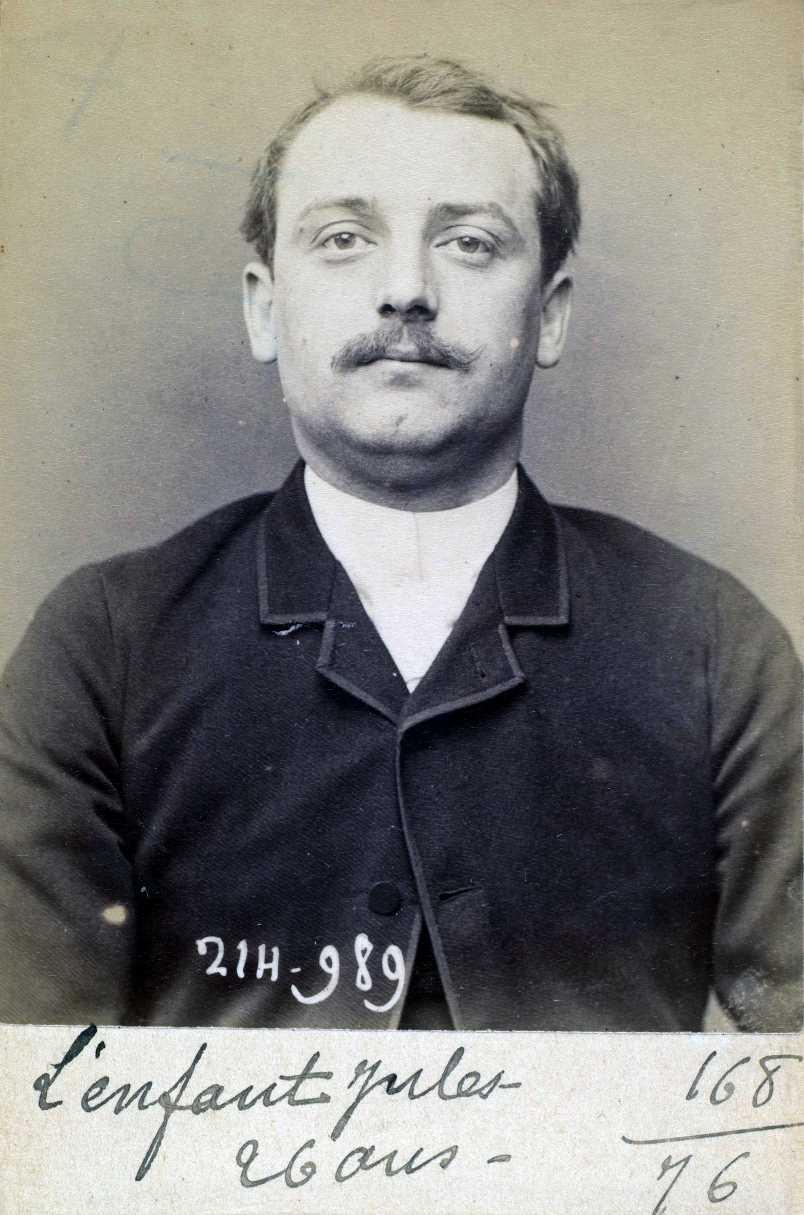 Foto policíaca d'Émile Lenfant (ca. 1894)