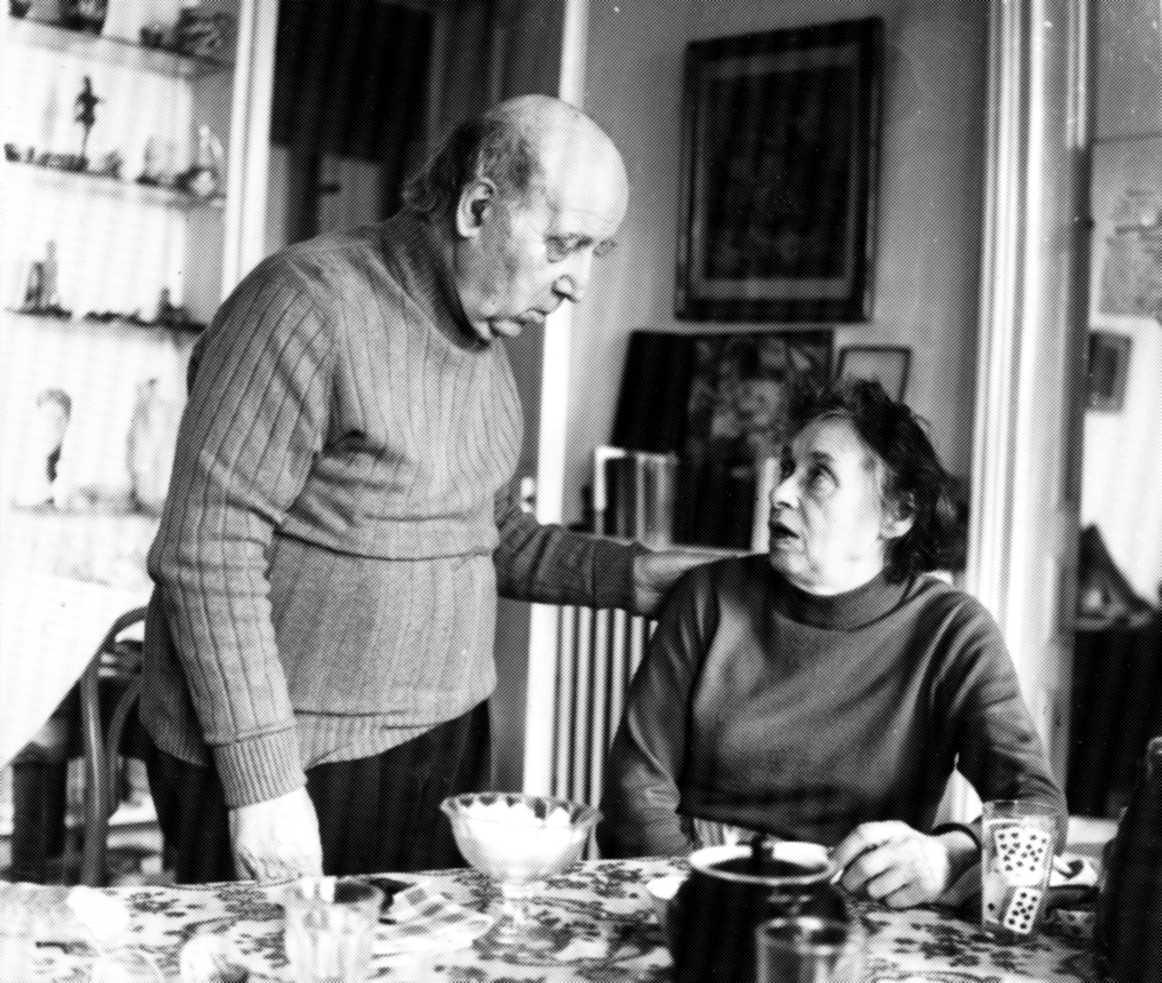 Marguerite Liégeois i Gaston Leval (París, març de 1978) [CIRA-Lausana]