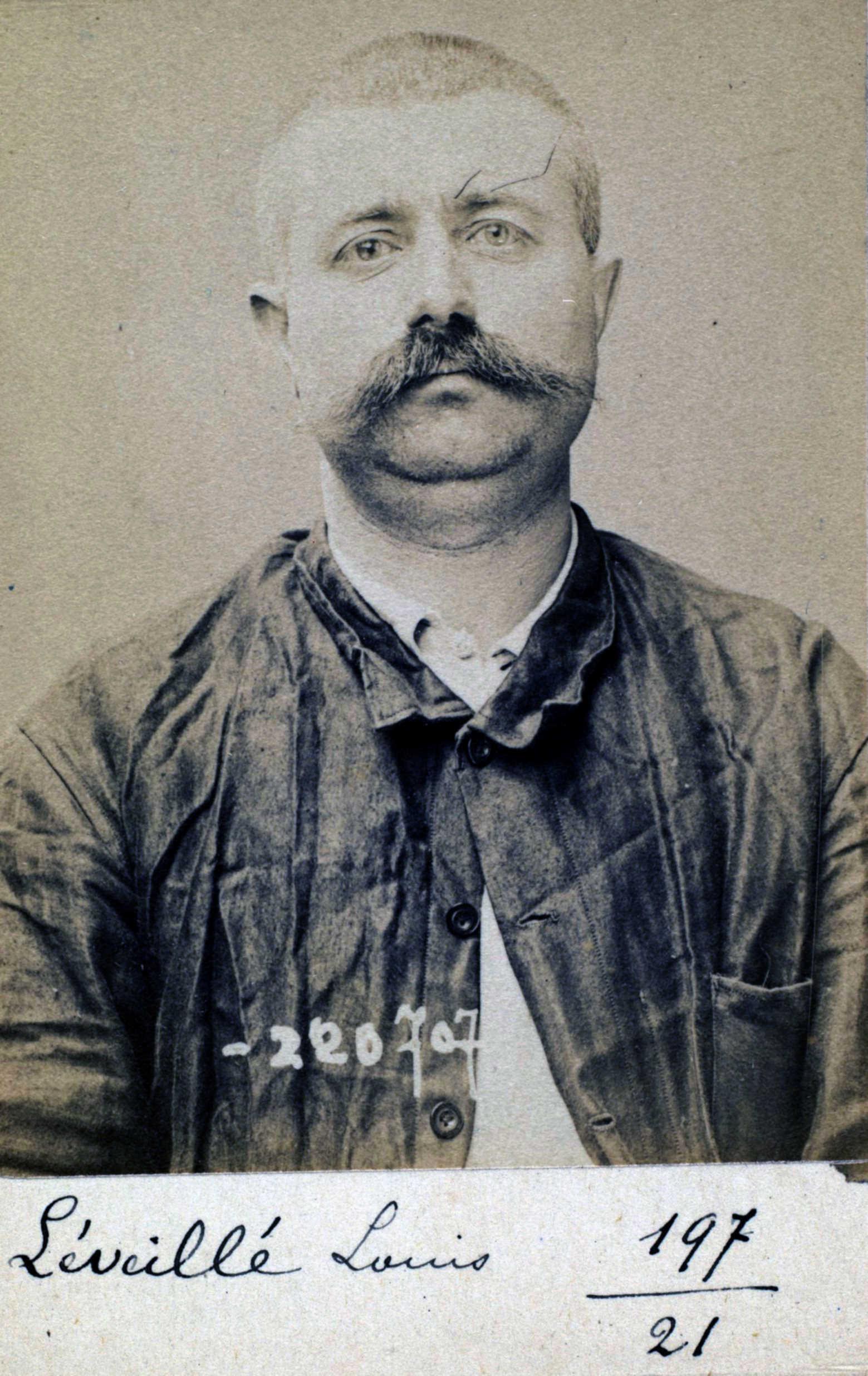 Foto policíaca de Louis Léveillé (7 de juliol de 1894)