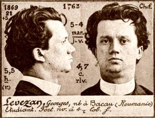 Foto policíaca de Gheorghe Levezan (ca. 1894)