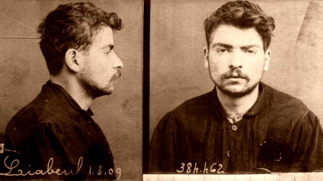 Foto policíaca de Jean-Jacques Liabeuf (1909)