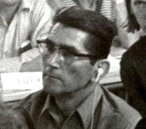 Vicente Llansola Renau en el Congreso Internacional de Federaciones Anarquistas (París, 1971)