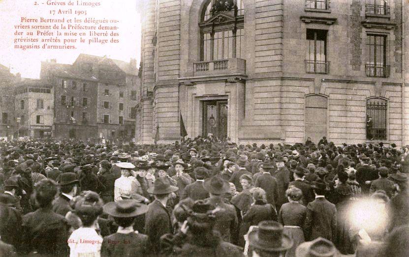 Manifestació per l'alliberament dels detinguts (17 d'abril de 1905)