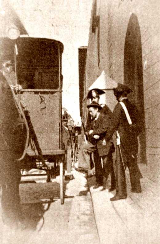 Oreste Lucchesi durant el seu processament (1895)