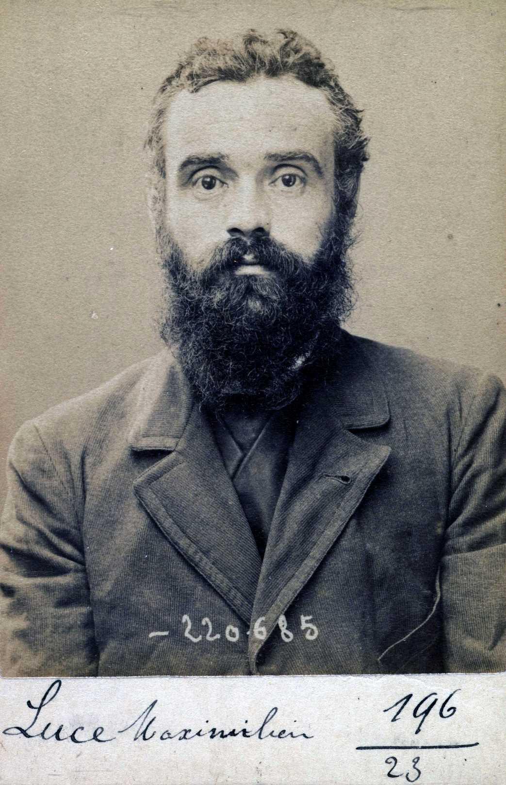 Foto policíaca de Maximilien Luce (6 de juliol de 1894)